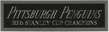 2016 PITTSBURGH PENGUINS NAMEPLATE FOR YOUR AUTOGRAPHED Signed HOCKEY JERSEY