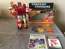 "Vintage Hasbro Transformers 1987 G1 technobots "" Computron"" 100% Loose Complete"