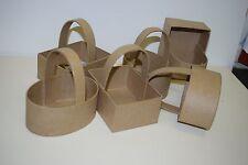 6 DECOPATCH Pâques cadeaux paniers avec poignées papier mâché CRAFT & peinture Decopage