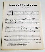 Partition sheet music RENE COLOMBIES : Fugue en Si Bémol Mineur * 70's