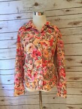 Coldwater Creek 12 Jacket Pink Floral Womans❤️