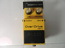 VINTAGE BOSS OD-1 OVERDRIVE EFFECTS PEDAL ORIGINAL MADE IN JAPAN MIJ JRC4558DD