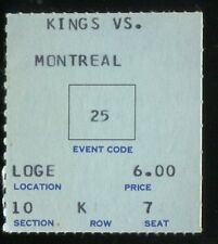 Hockey Ticket Los Angeles Kings  1969 Montreal Canadiens 2/6 Tony Esposito RC Ye