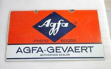 Vintage Old Agfa - Gevaert Photo Goods Ad Porcelain Enamel Signboard Mint Condi.