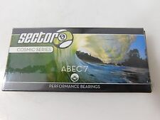 Sector 9 Cosmic ABEC7 (8 PACK) PRO LONGBOARD SKATEBOARD BEARINGS With Spacers
