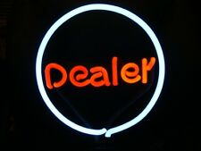 POKER DEALER POOL NEON LIGHT LAMP GAMEROOM BAR SIGN