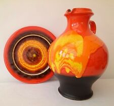 HUTSCHENREUTHER RENEE NEUE 1970s RETRO GERMAN 27CM XL FAT LAVA POP ART BALL VASE