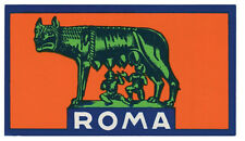 Rome  Roma   Italy    Vintage-Looking  Sticker-Decal-Luggage Label