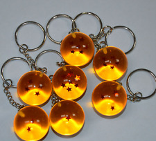Random 1PC Anime DBZ Dragon Ball Z Cosplay Crystal Ball Stars Keychain Keyring