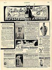 Rotkäppchen Sekt  u.a. Jugend-Anzeigen ( Nr.5 ) Art nouveau  Reklame Ad 1906