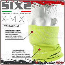 SIXS SIX2 TBX SCALDA COLLO COLLARE TERMICO X-MIX CARBON GIALLO OFFROAD MTB ATV