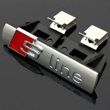 Audi S-Line Chrome Front Grill Badge Sticker Emblem S Line A 1 2 3 4 5 6 8 Q RS
