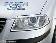 VW Passat 3BG B5.5 GENUINE MATTIG SLIM HEADLIGHT EYEBROWS (Germany) Plastic