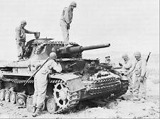 WWII Photo German Panzer IV Kasserine Pass  WW2 / 4019