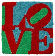 Robert Indiana-Classic Love-paillasson avec certificat 51x51cm