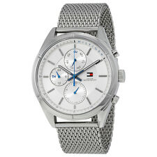 Tommy Hilfiger Silver Dial Stainless Steel Mesh Mens Watch 1791128