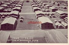 ROCKFORD, IL CAMP GRANT. SECTION OF BIRDSEYE VIEW cpyrt 1917 R. I. CO.