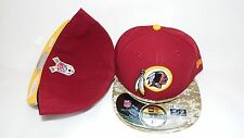 NWT NEW ERA HAT CAP FITTED NFL WASHINGTON REDSKINS SIZE 7 1/2 ONFIELD RED CAMO