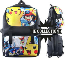POKEMON ASH E PIKACHU ZAINO SCUOLA victini lucario mew sac bag borsa backpack xy