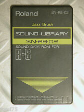 Roland sound Card SN-R8-02 Jazz Brush Carte memoire R-8 R8M Acoustic Bass RARE