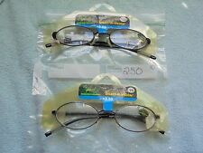 2 Pair Select-A-Vision Superior Reading Glasses +2.50 Model #6054 NEW With Tags