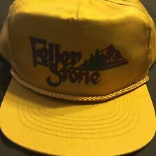 VTG Feller Stone Gold Hat Cap SnapBack  Aqua Ornaments Carved Rocks Utah