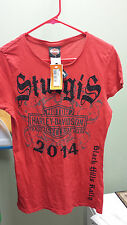 Ladie's Medium Red Harley-Davidson shirt NWT Sturgis 2014 Black Hills Rally