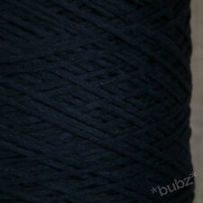 4 PLY ITALIAN TAPE YARN BIG 1,000g CONE 20 BALLS NAVY BLUE CHAINETTE COTTON FEEL