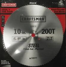 """Craftsman 26811 10"""" x 200 Tooth Saw Blade Crosscut/Plywood"""