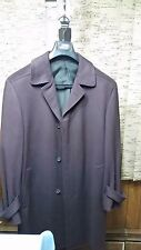 New Gianni Versace Wool Cashmere Mauve Brown Mens Dress Coat Jacket Size Large