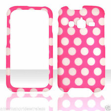 New Pink Polka Dots  For Samsung Galaxy Rugby Pro i547 AT&T  feel case cover