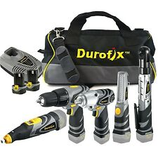 Durofix 5 /1 Combo Cordless Drill Driver Ratchet Wrench Rotary Tool Impact Light