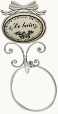 Stylish Chic Sturdy LE BAIN Wall Mounting Shabby Chic Towel Holder RING in White