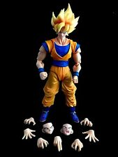 "Bandia Dragon Ball Z S.H. Figuarts 6"" Action Figure son gokou SUPER SAIYAN"