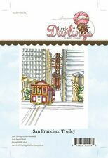 "LITTLE DARLINGS Rubber Stamp Set SAN FRANCISCO TROLLEY LD4022 4.8"" x 4.0"" Bridge"