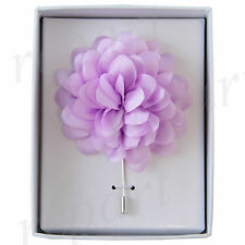 New in box formal Men's Suit chest brooch lilac flower lapel pin