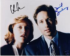 X-FILES - GILLIAN ANDERSON & DAVID DUCHOVNY AUTOGRAPH SIGNED PP PHOTO POSTER