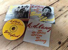 K. D. Lang And The Siss Boom Bang Sing It Loud Digipak Cd