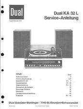 Dual Original Service Manual für KA 32 L