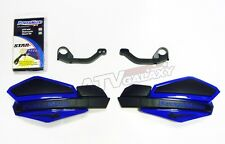 POWERMADD HANDGUARDS YAMAHA 350 RAPTOR HAND GUARDS BLUE BLACK HAND GUARD MOUNTS