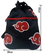 2016 Anime Naruto Akatsuki Red Cloud Bag Backpack Rucksack Cosplay Casual