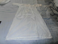 Victorian Hand Stitched Infants white Cotton Gown owner Melikoff