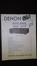 Denon drw-750 service manual original repair book stereo tape deck player