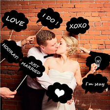 10PCS Photo Booth Prop DIY Bubble Speech Chalk Board Wedding Party Photobooth