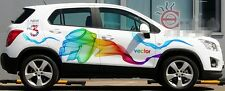 Rainbow Color Car Graphics Decal Vinyl Sticker Both Sides