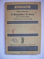 ALFONSO MANARESI IL RIASSUNTINO DI STORIA PER LA SCUOLA MEDIA VOLUME 3 ( aa5 )