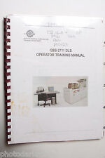 Noritsu QSS 2711 DLS Operator Training Manual - English - USED