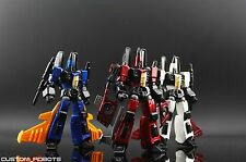 Transformers custom robots revoltech conheads Dirge Ramjet and Thrust