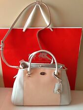 NWT Authentic COACH Bicolor CROSSGRAIN LEATHER  small Carryall F34853 Receipt
