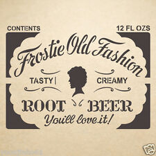 Root Beer Label Stencil Reusable Template for DIY Crafts and Wall Decor Painting